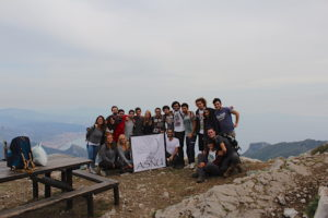 The hike to the Monte Finestra with the student association ASNU