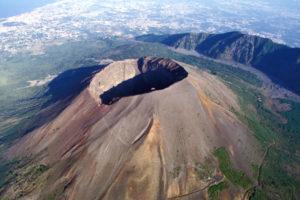 Italy, Campania, Vesuvius volcano, aerial view