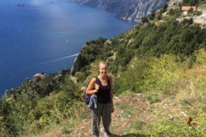 """Ina on the """"Path of the Gods"""" (Amalfi Coast)"""